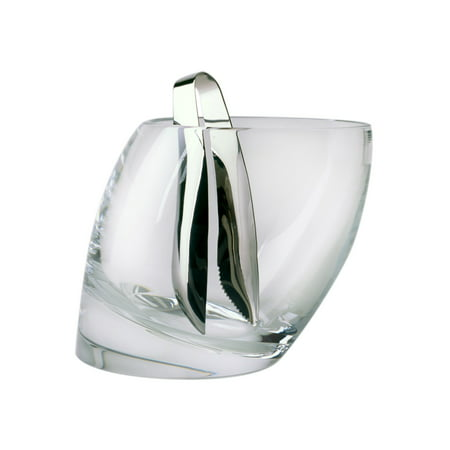 Nambe Tilt Crystal Ice/Champagne Bucket with Tongs