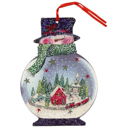 LPG Greetings Snowman Snow Globe Glitter Keepsake Ornament Box of 12 Christmas Cards