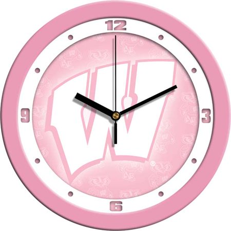 - Wisconsin Pink Wall Clock