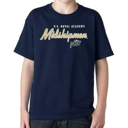 J2 Sport Navel Academy Midshipmen NCAA Machine Script Youth T-Shirt