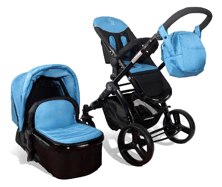 Elle Baby 3-in-1 Travel System Child Stroller and Pram by