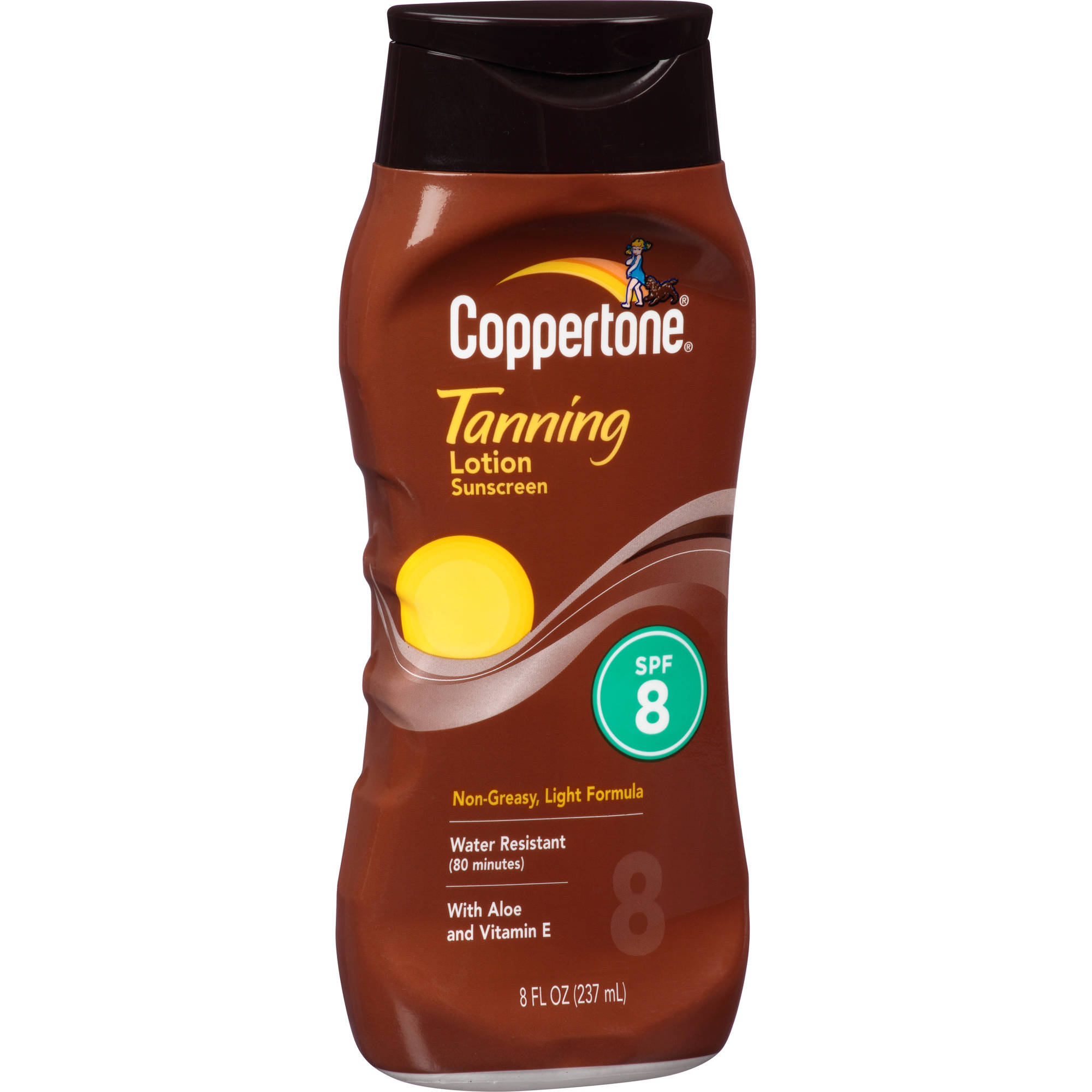 Coppertone Tanning Lotion Sunscreen, SPF 8, 8 fl oz
