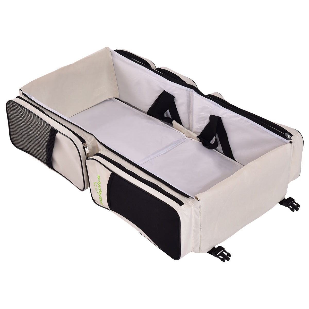 3 in 1 Travel Diaper Bag Backpack Changing Station,Travel Bassinet Foldable Baby Bed,Portable Bassinets for Baby Girls Boys Travel Crib Infant Sleeper,Baby Nest with Mattress Included