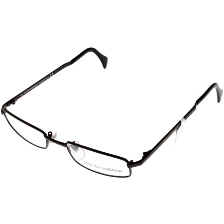 550 Eyeglasses (Dolce & Gabbana Prescription Eyeglasses Frames Unisex 550 558 Brown Rectangular Size: Lens/ Bridge/ Temple: 51-17-135 )