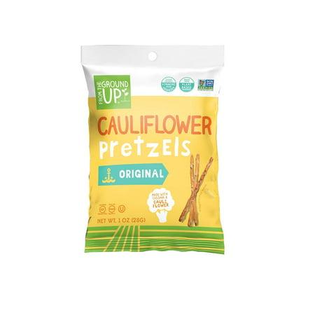 From the Ground Up Cauliflower Sea Salt Pretzel Sticks, 1 oz Bags (Pack of 24) (Halloween Chocolate Covered Pretzel Sticks)