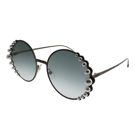 Fendi Ribbons And Pearls FF 0295 J7D EZ Womens Round Sunglasses