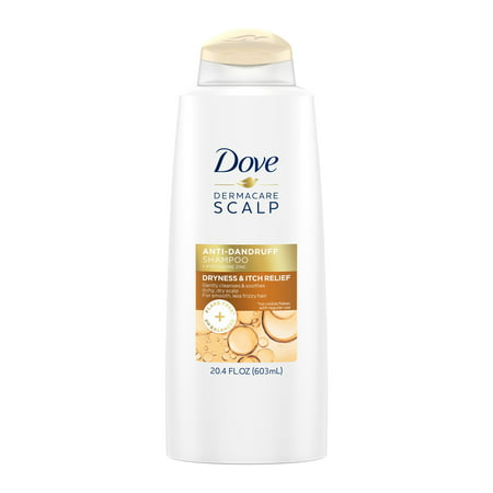 Dove Dermacare Scalp Dryness & Itch Relief Anti-Dandruff Shampoo, 20.4 oz (Scalp Pain Relief)