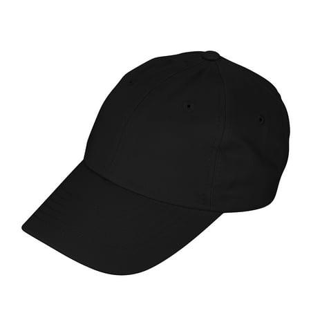 DALIX Youth Childrens Cotton Cap Plain Hat In Black