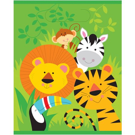 Animal Jungle Favor Bags, 8ct - Jungle Animal Party Favors