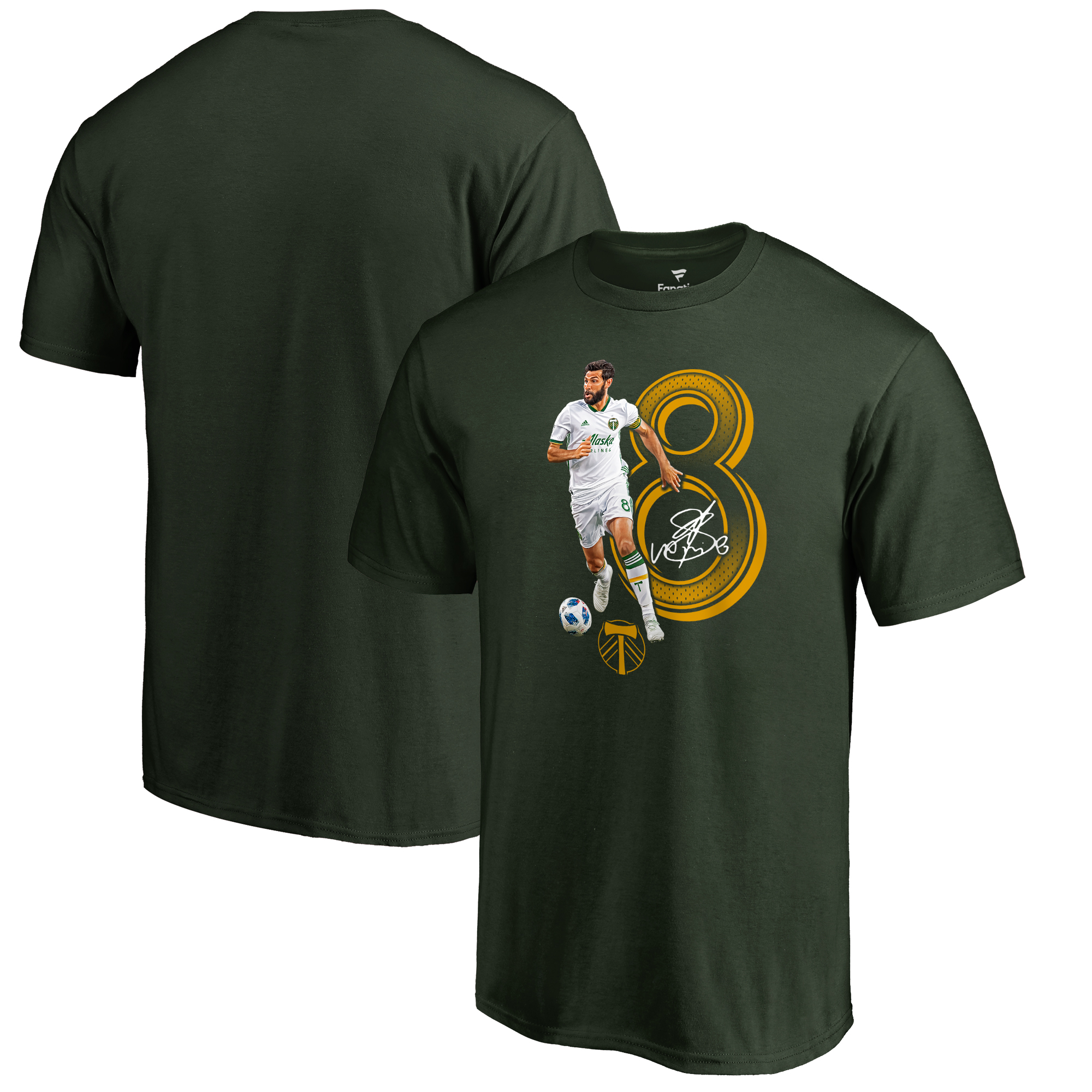 Diego Valeri Portland Timbers Fanatics Branded Powerhouse Player T-Shirt - Green