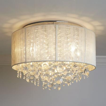 Serena String Beaded Flush Mount Ceiling Light ()