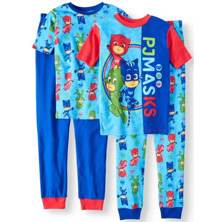Boys' PJ Masks 4 Piece Pajama Sleep Set (Little Boy & Big Boy) - Pj & Me