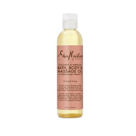 SheaMoisture Bath, Body & Massage Oil Coconut Oil & Hibiscus, 8 oz Coconut Perfume Body Oil