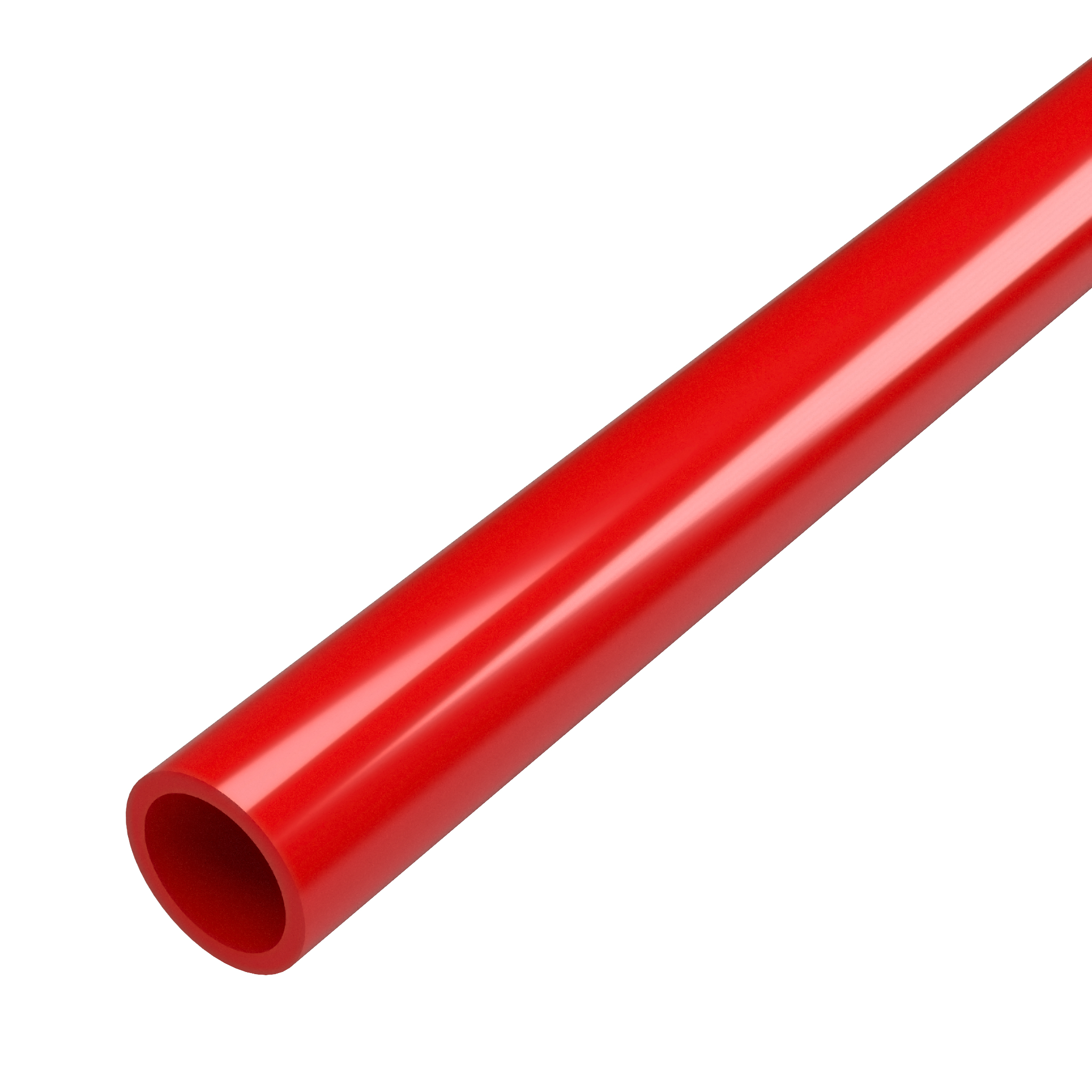 """FORMUFIT P012FGP-RD-5 Schedule 40 PVC Pipe, Furniture Grade, 5-Feet, 1/2"""" Size, Red"""