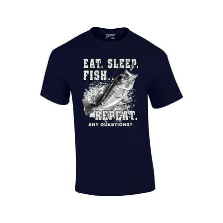 - Fishing T-Shirt Eat Sleep Fish Repeat