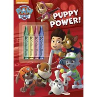 Color Plus Chunky Crayons: Puppy Power! (Paw Patrol) (Paperback)