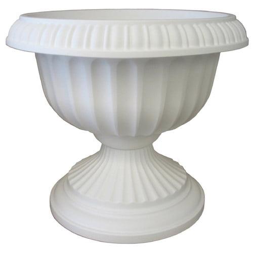 Bloem 18in Grecian Urn White GU1810, 6 pack by Bloem