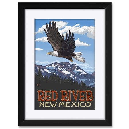 "Red River New Mexico Framed & Matted Art Print by Paul A. Lanquist. Print Size: 12"" x 18"" Framed Art Size: 18"" x 24"""