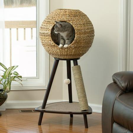 Natural Amethyst Quartz Sphere - Sauder Woodworking Natural Sphere 43.7 in. Cat Tree