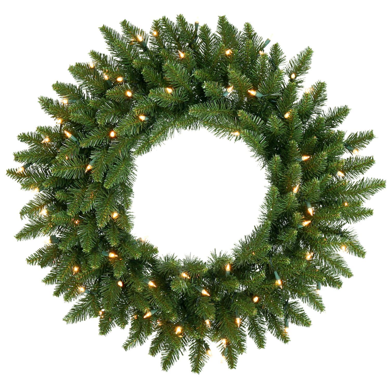 Vickerman 30 Pre - Lit Camdon Fir Artificial Christmas Wreath  -  Warm Clear LED Lights
