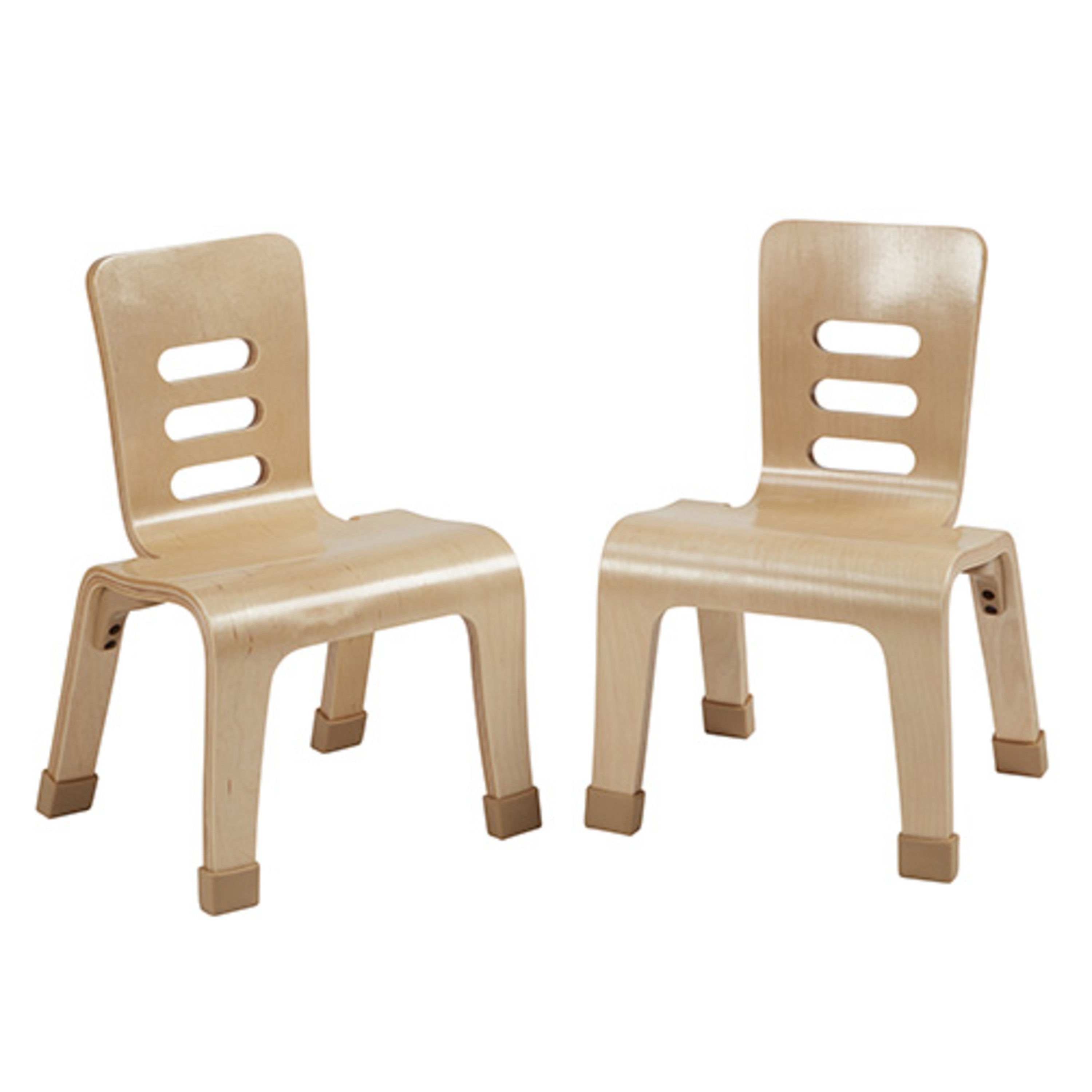 ECR4Kids 10in Bentwood Chair - Natural
