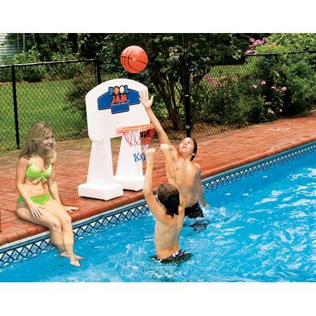"Swimline 33"" Water Sports Poolside Jam Basketball Game - Orange/White - Water Basketball"