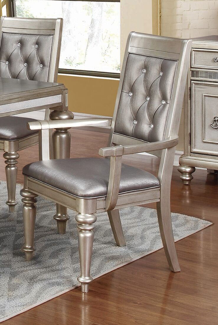 Walmart Furniture Online: Danette Upholstered Arm Chairs With Tufted Back Metallic