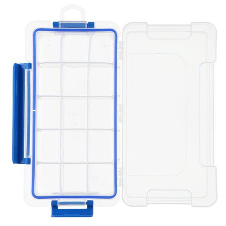 Boîte de rangement en plastique transparent Boîte multi-compartiments Slot Hardware Boîte à outils Organisateur de bijoux Boîte aux outils pour composants électroniques Boîte de pêche Accessoires de p - image 1 of 7