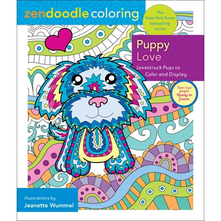 Zendoodle Coloring: Puppy Love : Lovestruck Pups to Color and Display