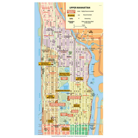 Michelin Official Upper Manhattan NYC Map Art Print Poster - 13x19 - Nyc Halloween Parade Map