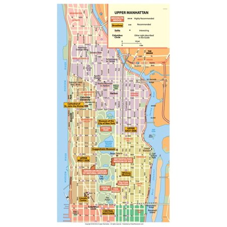 Michelin Official Upper Manhattan NYC Map Art Print Poster - 13x19](Nyc Halloween Parade Map)