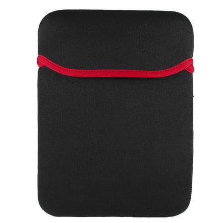 "Unique Bargains Neoprene Red Black 12"" Laptop Notebook Portable Sleeve Bag Cover Case"