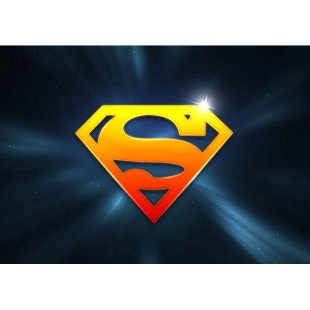 Superman Supergirl  Cake Topper Edible Frosting Image 1/4 - Supergirl Decorations