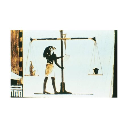 The God Horus Weighing the Heart of the Dead in a Balance, Ancient Egyptian, 28th Dynasty, C400 Bc Print Wall Art](Dead Hearts Wedding)