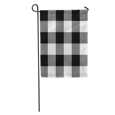 SIDONKU Gingham Shepherd Pattern Check Abstract Beautiful Black Classic Cooking Country Garden Flag Decorative Flag House Banner 12x18 - Shepherd Check