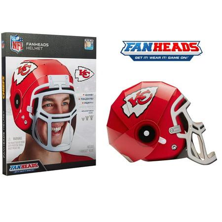 Kansas City Chiefs Fan Heads Helmet - No Size