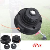 4pcs For RYOBI EXPAND-IT Universal 2 Line Spool Garden Mower String Trimmer Head Cutting black