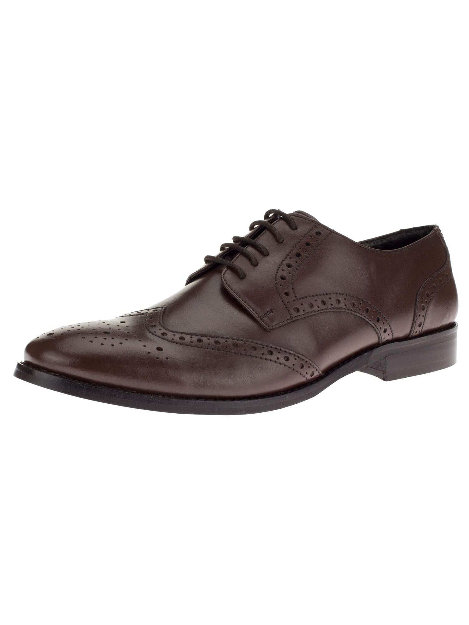 Gino Valentino Men's Leather Dress Shoe Lace-Up Tyson Wingtip Oxford