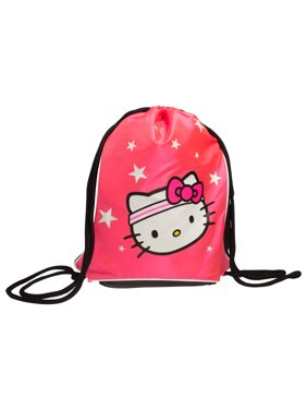 61c65ff9d Product Image Sanrio Hello Kitty Backpack Sport Sack Pack Girls Sling Bag  Tote Metallic Pink