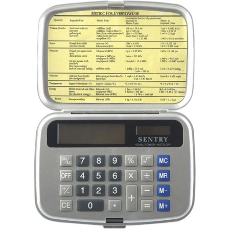 Sentry Folding Calculator With Cover Silver Walmart