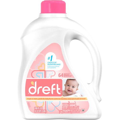 Dreft Laundry Detergent, 100 fl oz