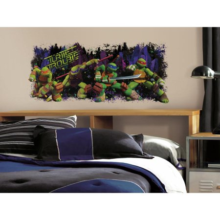 TEENAGE MUTANT NINJA TURTLES Trouble Mural Wall Decals TMNT Stickers Room Decor - Tmnt Wall Decals