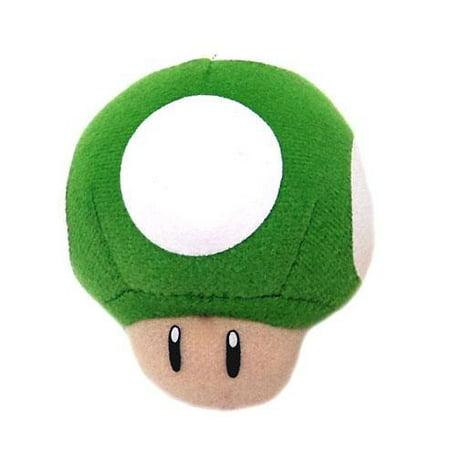 New Super Mario Bros Wii 1-Up Mushroom Plush Keychain Super Mario Bros Keychain Measures