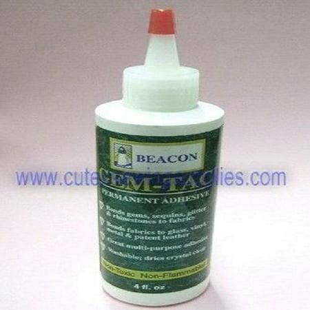 Beacon Gem-tac Permanent Adhesive Glue 4 Oz. For Gems Sequins Rhinestones Crafts - Gem Tac Glue