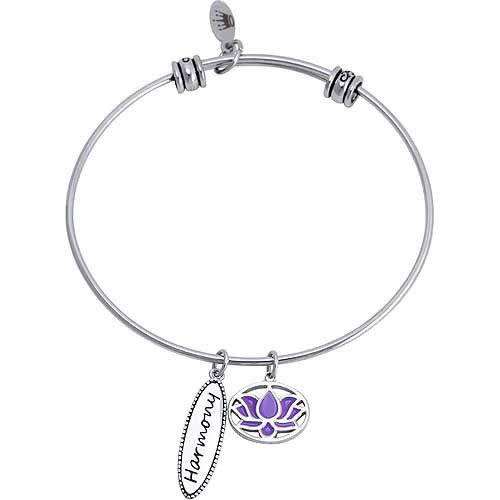 Connections from Hallmark Stainless Steel Harmony Multi-Charm Bangle