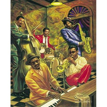 Hot Stuff 2097-08x10-BA 8 x 10 in. Cool Jazz Black Art Poster Print by Sarah Jenkins](Cool Ba)