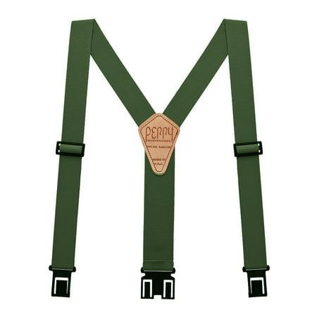 Perry Hook-On Belt Suspenders Regular - The Original - OD Green - 2