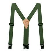 "Perry Hook-On Belt Suspenders Regular - The Original - OD Green - 2""W x 48""L"