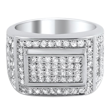 Bling Bling Ring Mens Iced Out Micro Pave CZ