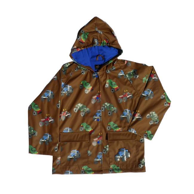 Foxfire FOX-601-60-3T Childrens Brown Monster Truck Raincoat - Size 3T - image 1 de 1